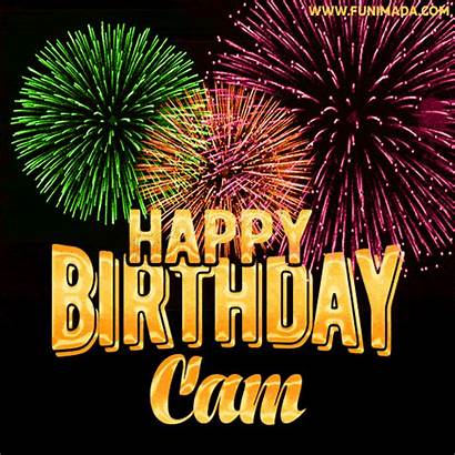 Cam Birthday Happy Fireworks Gifs Funimada Wishing
