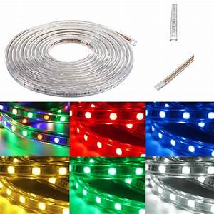 20m 5050 led smd outdoor waterproof flexible tape rope for Outdoor led strip lights 20m