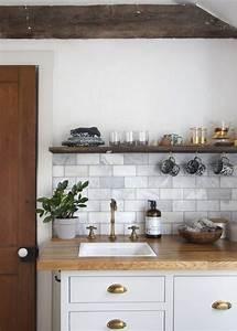Cuisine Blanche Plan De Travail Bois : cuisine blanche plan de travail bois inspirations de d co ~ Preciouscoupons.com Idées de Décoration