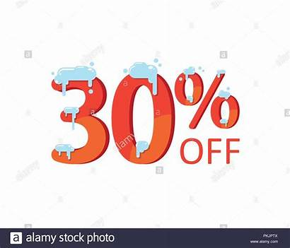 Discount Percent Winter Snow Holiday Flat Thirty