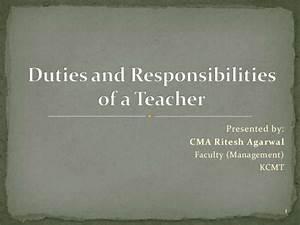 Duties And Responsibilities Of A Teacher