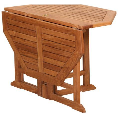 table en teck pliante table octogonale pliante en teck massif 120x120x75cm