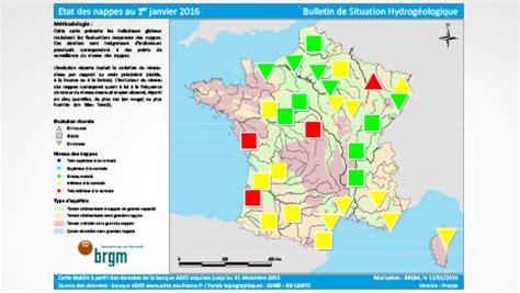 etat des nappes d eau souterraine au 1er janvier 2016 brgm