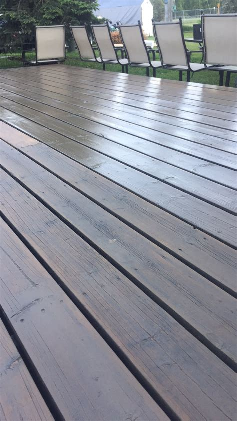 staining      deck glossy home improvement