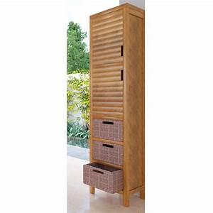 meuble haut de salle de bain teck sumatra With mitigeur haut salle de bain