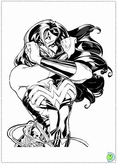 Wonder Woman Coloring Colouring Comic Dc Drawing