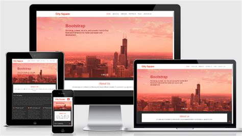 Free Bootstrap Web Template For Corporate Business
