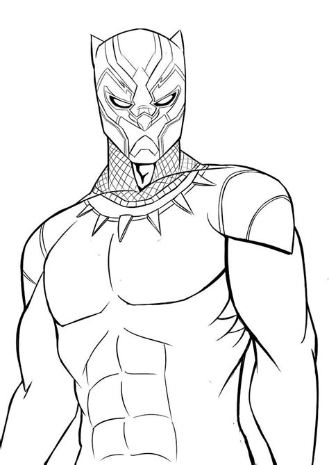 Kleurplaat Black Panther by Black Panther Coloring Pages 2018 Coloring Sheets