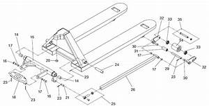Lift-rite U00ae High Capacity Hand Pallet Truck  After G22590-00  Schematic