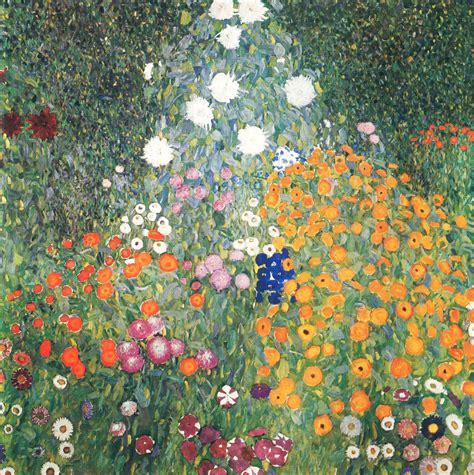 flower garden gustav klimt wikiart org encyclopedia