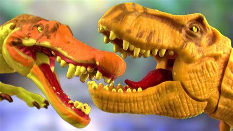 dinosaurs fight spinosaurus   rex battle kids toys