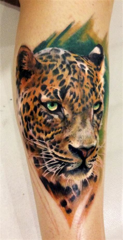 awesome leopard tattoo pictures  images