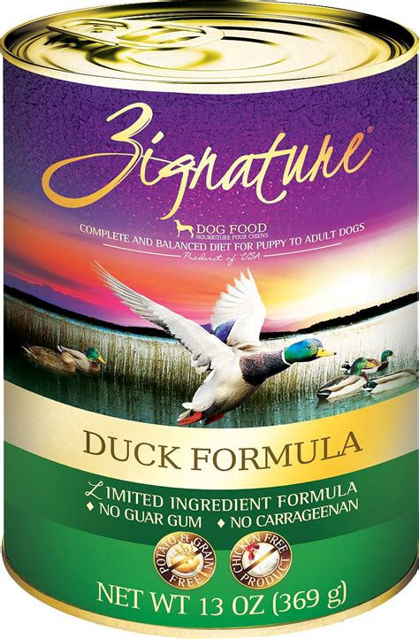 zignature duck limited ingredient formula grain