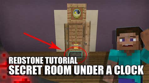 minecraft secret room   clock youtube