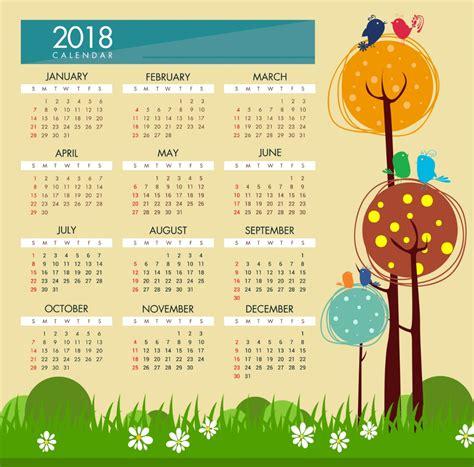 Elegant Calendar 2018 Design