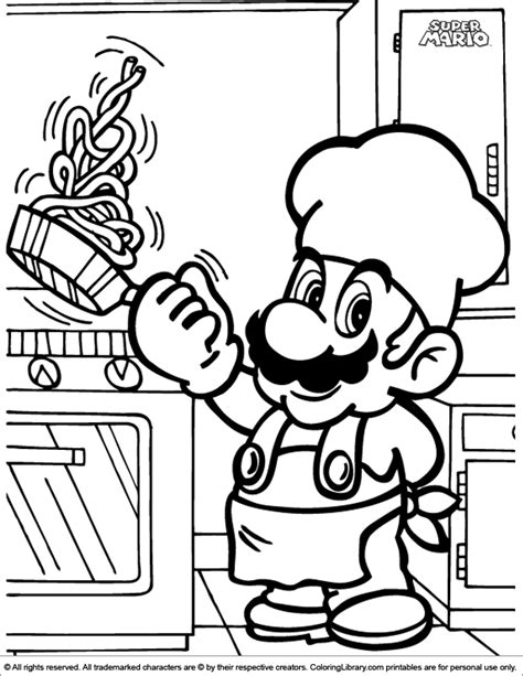 Cool super mario coloring for kids. Super Mario Brothers colouring book - Coloring Library