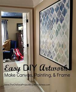 Diy, Artwork, Make, Canvas, Painting, And, Frame
