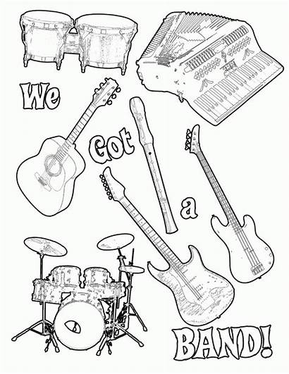 Coloring Instrument Pages Band Musical Results