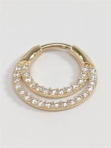 14K Yellow Gold Septum Ring   Nose Piercing   Septum ...