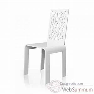 Chaise De Jardin Blanche : chaise blanche de jardin l 39 univers du jardin ~ Dailycaller-alerts.com Idées de Décoration