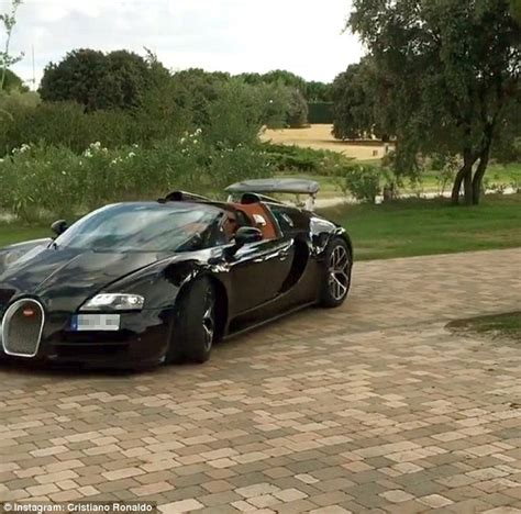Cristiano ronaldo's car collection is already valued at approximately $16 million, but the football superstar. Cristiano Ronaldo shows off Bugatti Veyron as Real Madrid star feels need for speed | Daily Mail ...