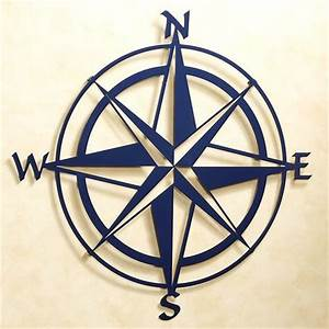 Compass rose indoor outdoor metal wall art