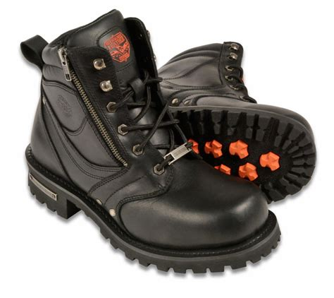 mens leather motorcycle boots mens black leather motorcycle boots 6 quot tall side zipper
