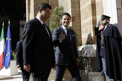 France médias monde graphics studio/reuters | chinese president xi jinping and italian pm giuseppe conte. Italy, China sign accord deepening economic ties | The ...