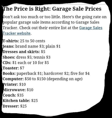 How To Price For A Garage Sale by Garage On