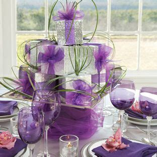 silver and purple christmas table decorations purple and silver centerpieces pinterest