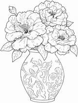 Coloring Adults Pages Flower Flowers sketch template