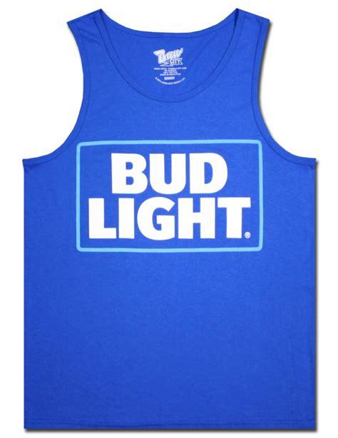 bud light tank top bud light blue s tank top beertees