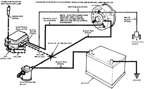 1984 Mustang Charging System Diagram by Repair Guides Charging System Alternator Autozone