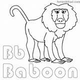 Baboon Coloring Chakiradecor sketch template