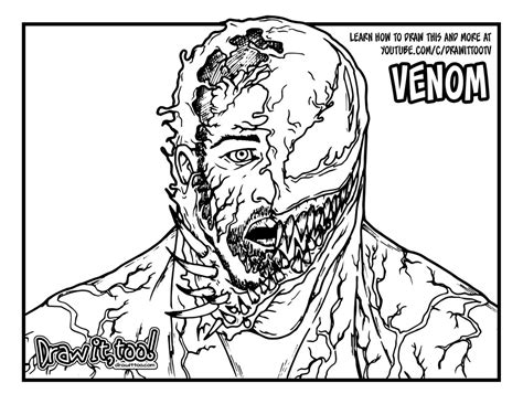 draw venoms transformation venom  drawing