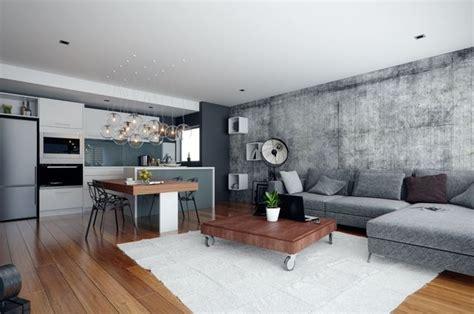 piece de vie moderne dans  petit appartement de ville