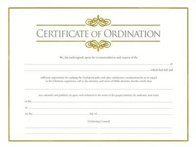 certificate  ordination template rapic design