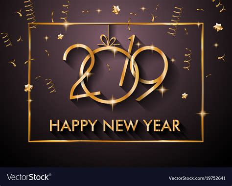2019 Happy New Year Backgrounds For Your Seasonal Vector Image