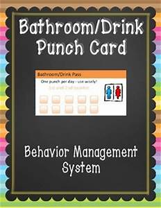 bathroom pass punch card by falling for 1st teachers pay With bathroom pass punch card