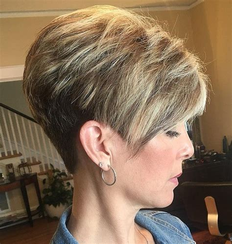 Inverted Pixie Hairstyles by Inverted Stacked Inverted Bob Stacked In 2019 Cabello