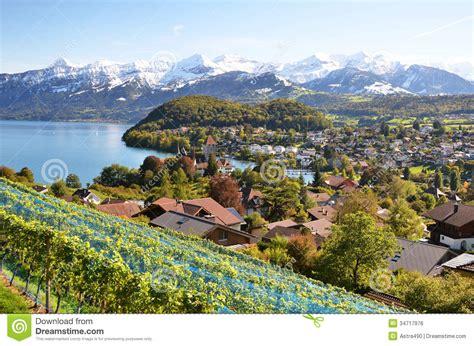 Spiez Switzerland Royalty Free Stock Image Image 34717976
