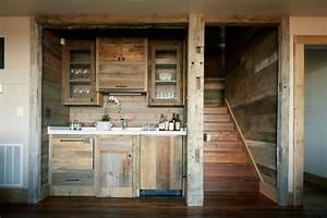 28 [ Rustic Wood Basement Bar Decor ] Western Style