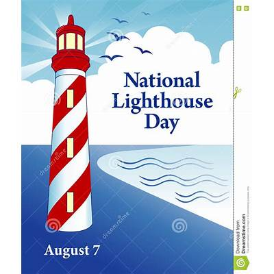 National Lighthouse Day stock vector. Illustration of