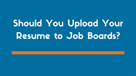 should you upload your resume sites like indeed tips to protect your information