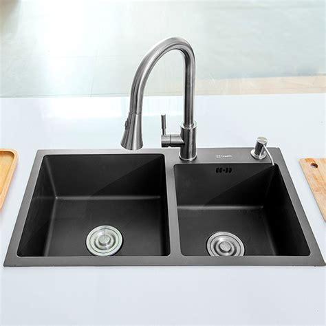 black stainless kitchen sink black bowl nano stainless steel sink creave