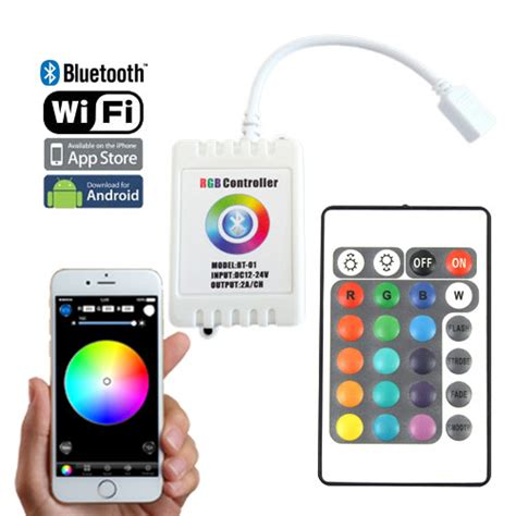 bluetooth led light strip color change rgb controller series