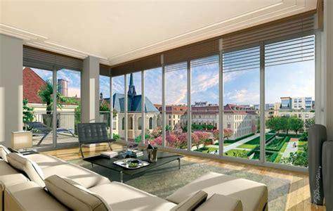canapé méridienne convertible appartement avec baie vitrée 7 rive gauche