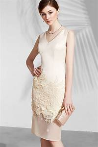 robe chic cocktail simple fourrreau jupe en dentelle With robe pour mariage chic