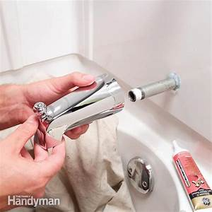 how to replace a bathtub spout the family handyman With how to install a faucet in the bathroom