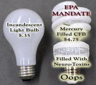 bulbs incandescent bulbs and mercury on